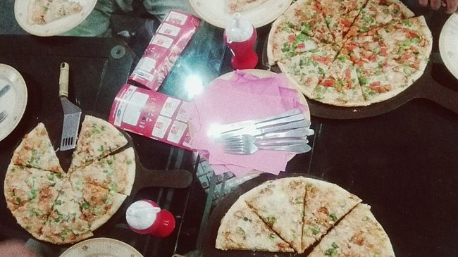 Trip Photo with mates , Pizza Time Funoverdose