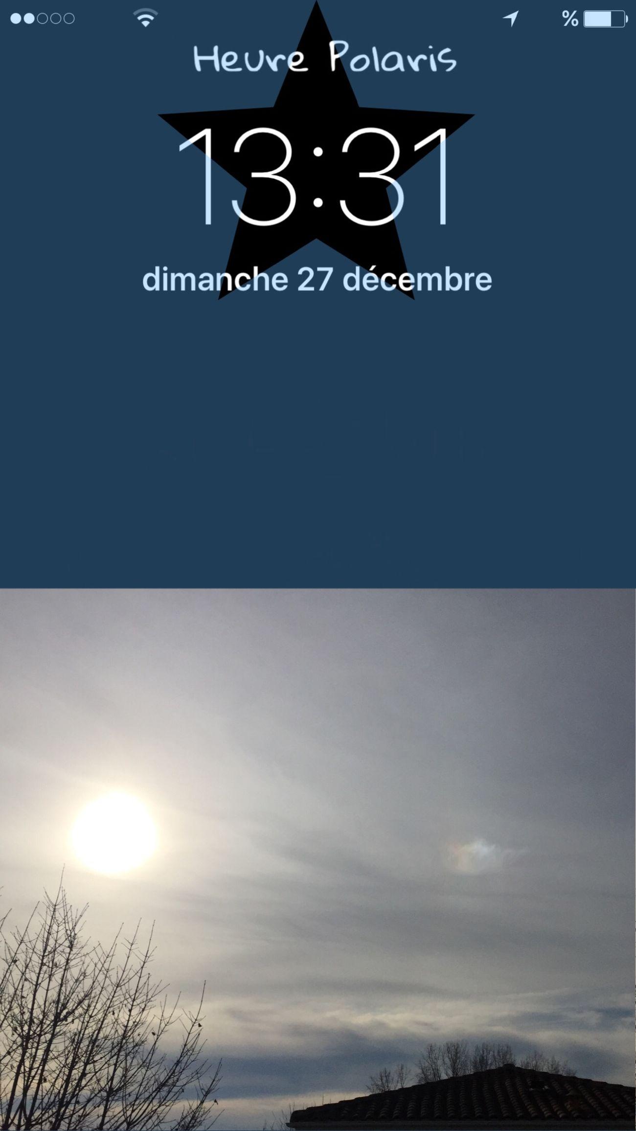 13H31 Soleil et arc-en-ciel ☀️🌈 HEURE POLARIS Soleil Arc-en-ciel  Sun Hour Temps Clock Heure Time