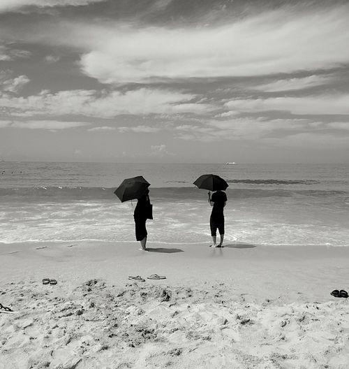 Hainan Beach Life Beach Photography Beach Umbrella Beachwalk Black & White Black And White Photography Connected By Travel
