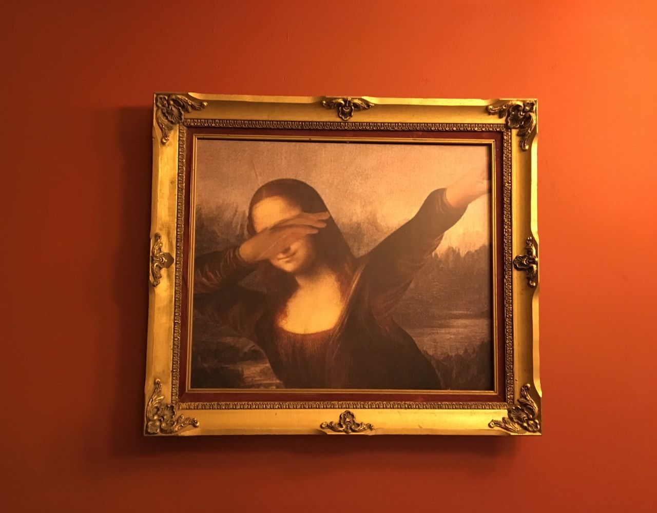 Modern Art Art Dab Monalisa Just Taking Pictures Indoors  Picture Frame People Creativity Justtakingpictures