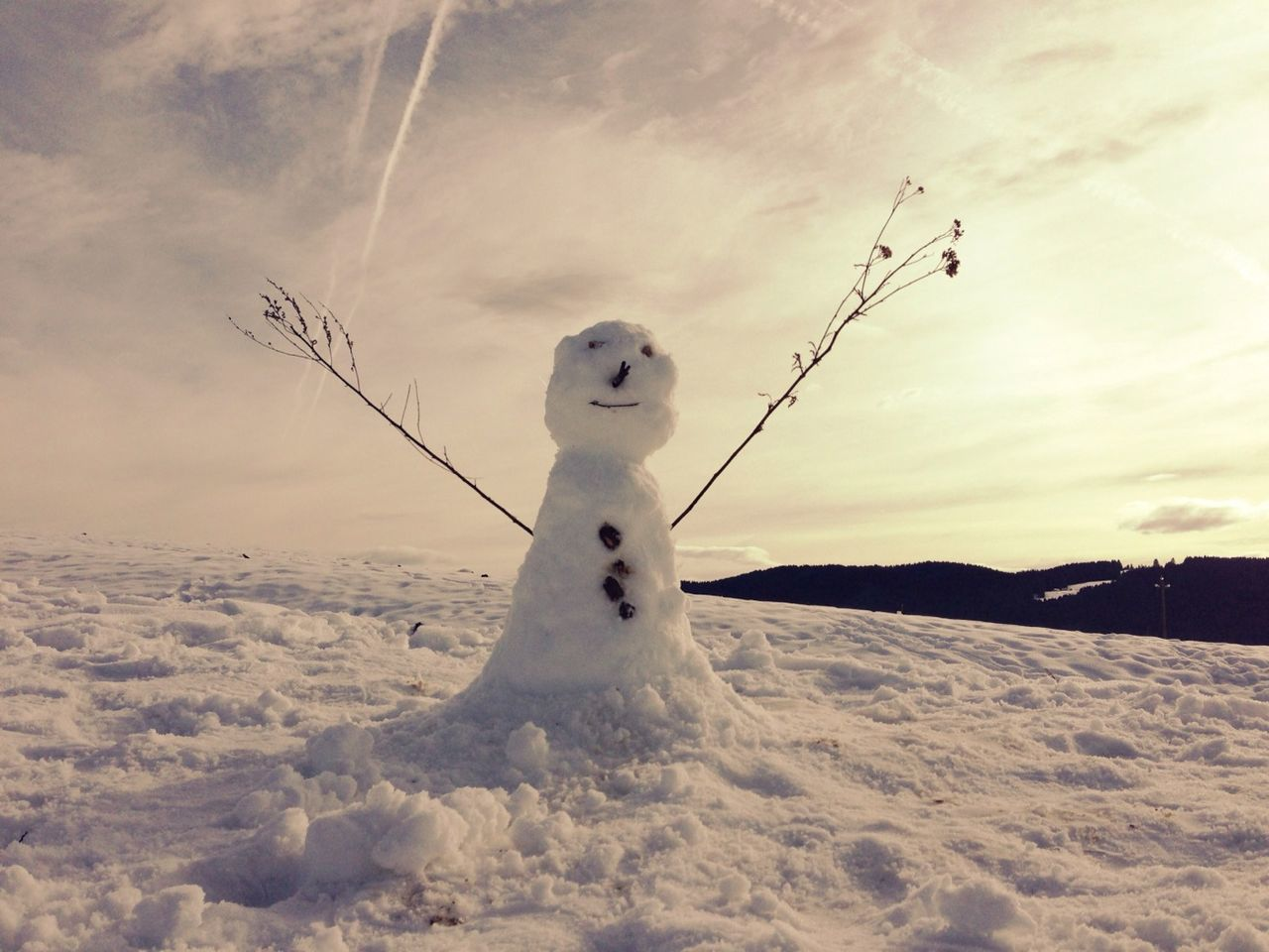 Beautiful stock photos of snowman, Arms Outstretched, Asiago, Childhood, Cloud - Sky