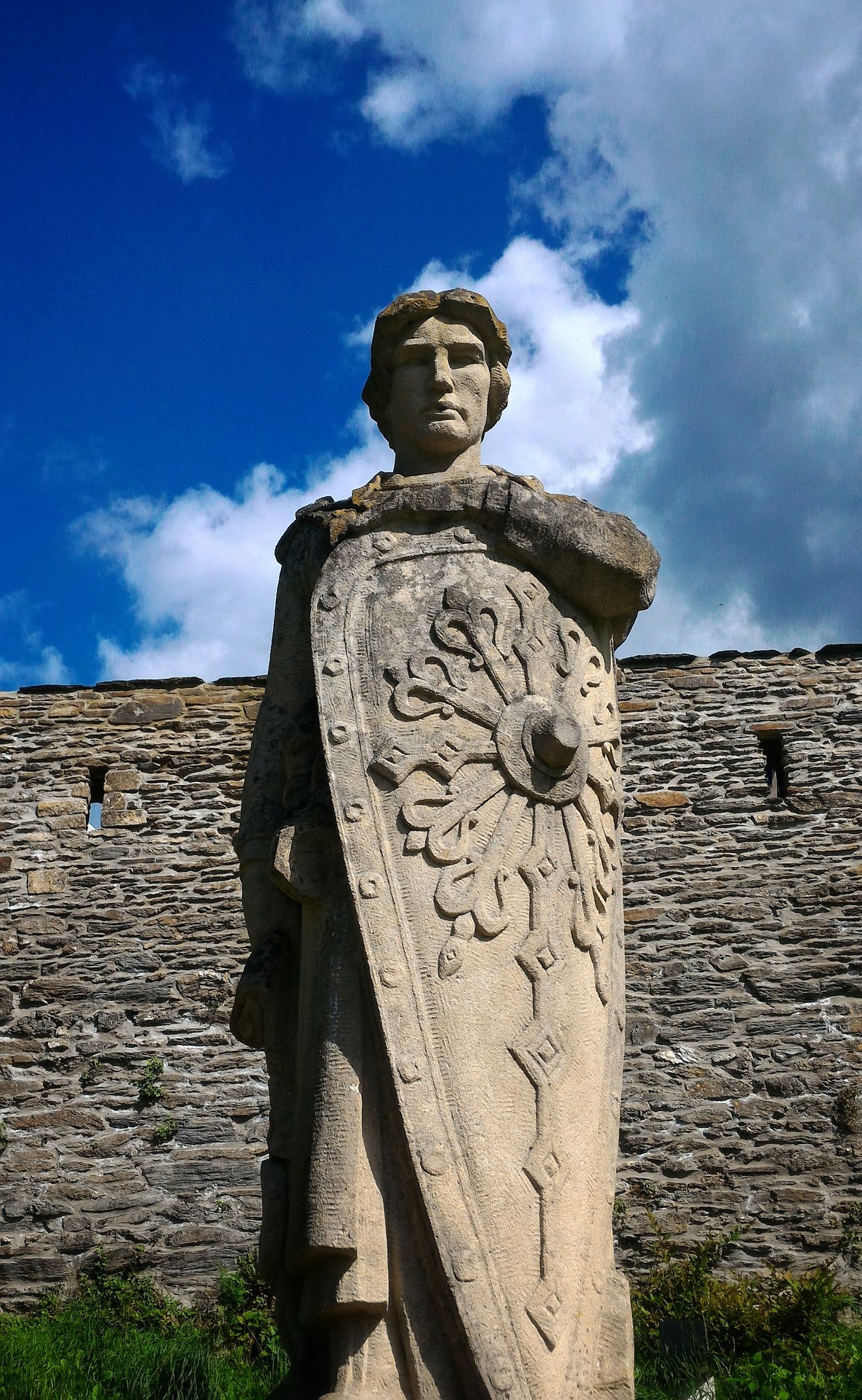 Godefroy, Bouillon, Belgium - Statue Knight  Shield Medieval Sculpture Cloud - Sky Castle Medieval Architecture MedievalTimes Medieval Festival