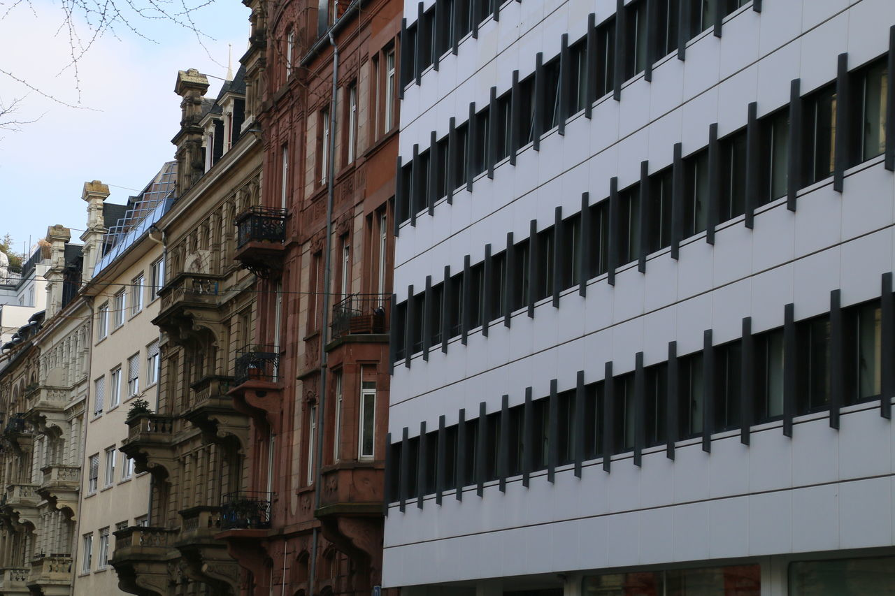 Mannheim Building Exterior Built Structure Architecture No People Outdoors Low Angle View Day Old And New
