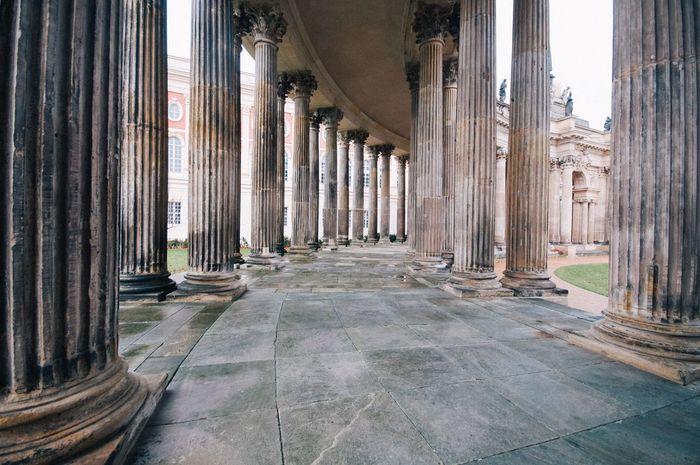 Architectural Column Colonnade Architecture History Built Structure Potsdam Potsdam Park Sanssouci Sanssouci Indoors  Day No People Pillar GERMANY🇩🇪DEUTSCHERLAND@ at Sanssoucipalace in Sanssouci Park Potsdam , Potsdam_city , Germany