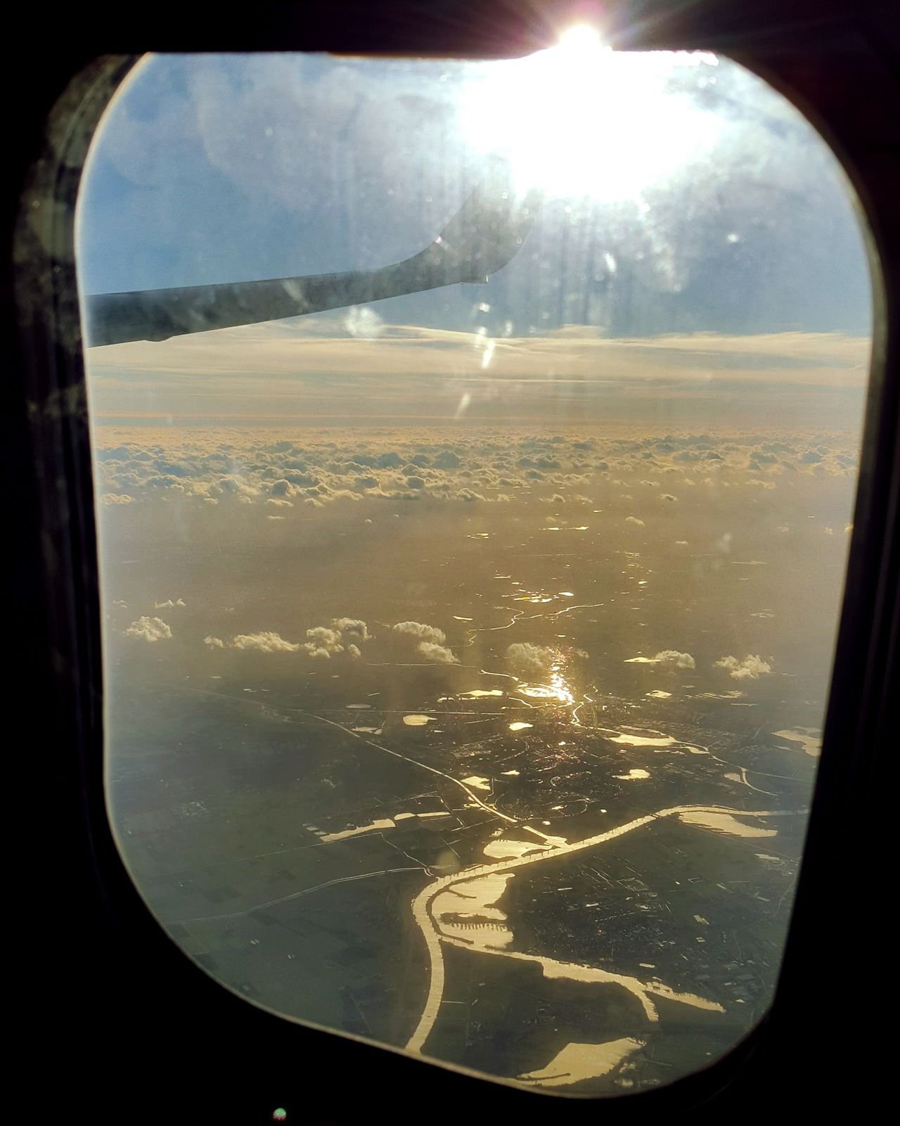 Window Looking Through Window Travel Airplane Sun Sunlight Flying Sky Sunbeam Commercial Airplane Mode Of Transport Traveling Travel Photography Amazing View Photography Taking Pictures Flying High View From The Window... Scenics Beautiful Landscape Dutch Landscape Dutch Countyside Dutch Landscapes Dutch Agriculture