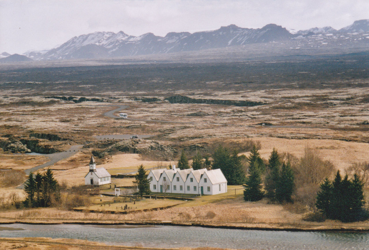 View of Thingvellir national park in Iceland, a UNESCO World Heritage Site, a historic place where the Althing, Iceland's national parlament was established more than 1000 years ago. Althing Beauty In Nature Historical Place Iceland Landscape Landscapes Mountain Nature Nature Photography Non-urban Scene Power In Nature Rural Rural Scene Scenics Thingvellir National Park Tranquil Scene Tranquility Travel Destinations UNESCO World Heritage Site þingvellir