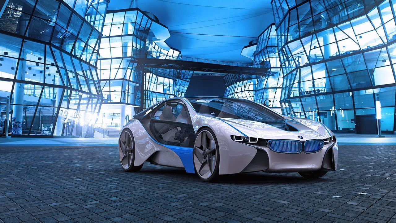 car, transportation, mode of transport, land vehicle, futuristic, luxury, modern, architecture, blue, no people, day, technology, indoors, space