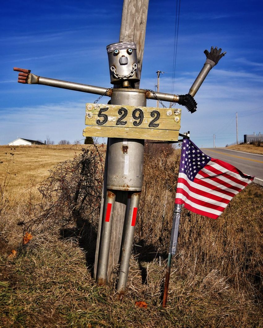 TIN CAN MAN ~ Trimble, Missouri USA ~ No People Outdoors Day Sky Rustygoodness Tin Can Man Kcac Artist Missouriphotography Ghosts Weathered Patina_perfection Relicsofthepast Memories William Christenberry Winter Landscape Old-fashioned Walker Evans