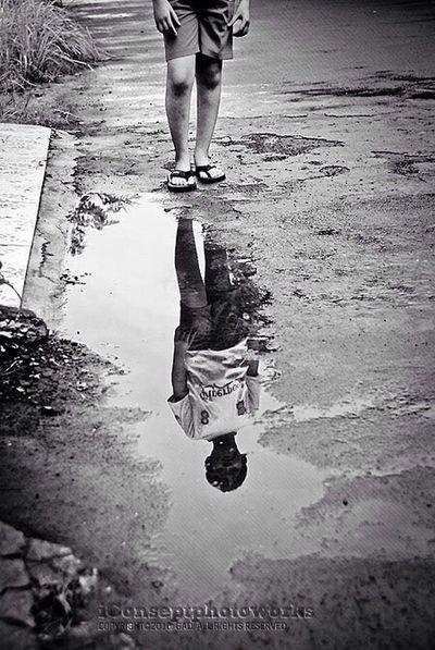 Black And White Monochrome Reflection