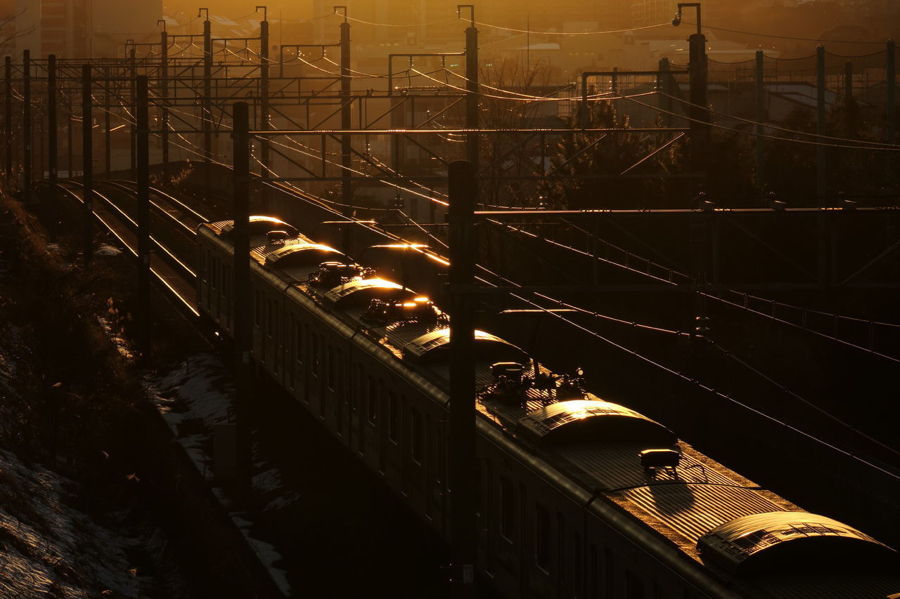 Sunset Sunset Silhouettes Reflection Train 京王相模原線 Light And Shadow Cityscapes From My Point Of View