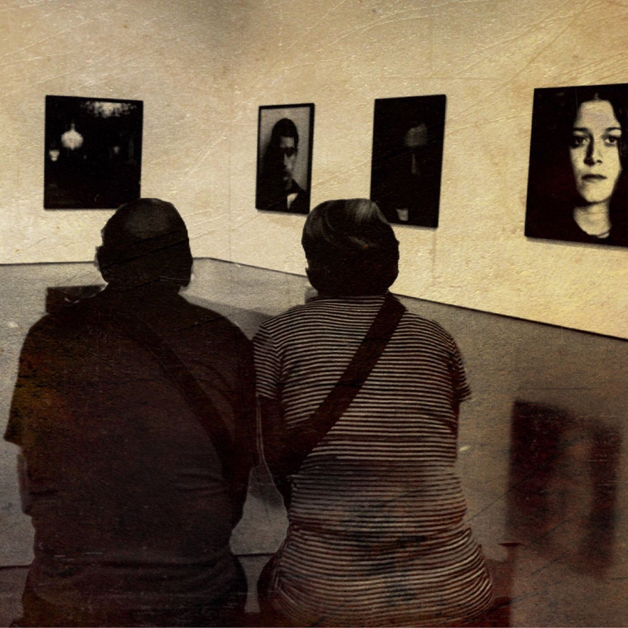 Couple Museum Staring
