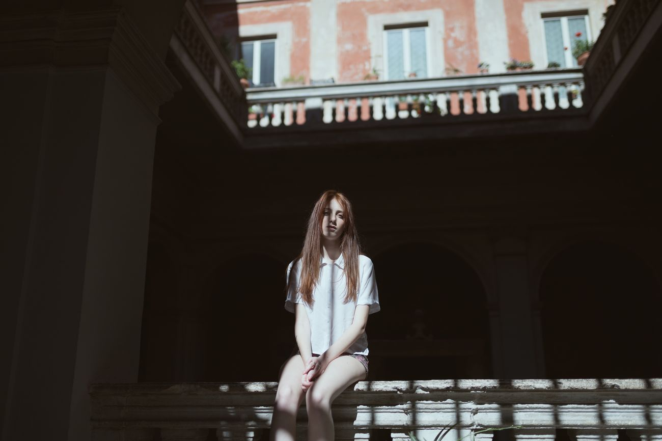 Wandering through random buildings in the center of Rome with Anna. One Person Architecture Front View Young Adult Built Structure Sitting Beautiful Woman Italy Rome Portrait Of A Woman EyeEmNewHere EyeEm Best Shots EyeEm Gallery People Portrait Architecture Travel Destinations The Architect - 2017 EyeEm Awards EyeEmNewHere The Portraitist - 2017 EyeEm Awards