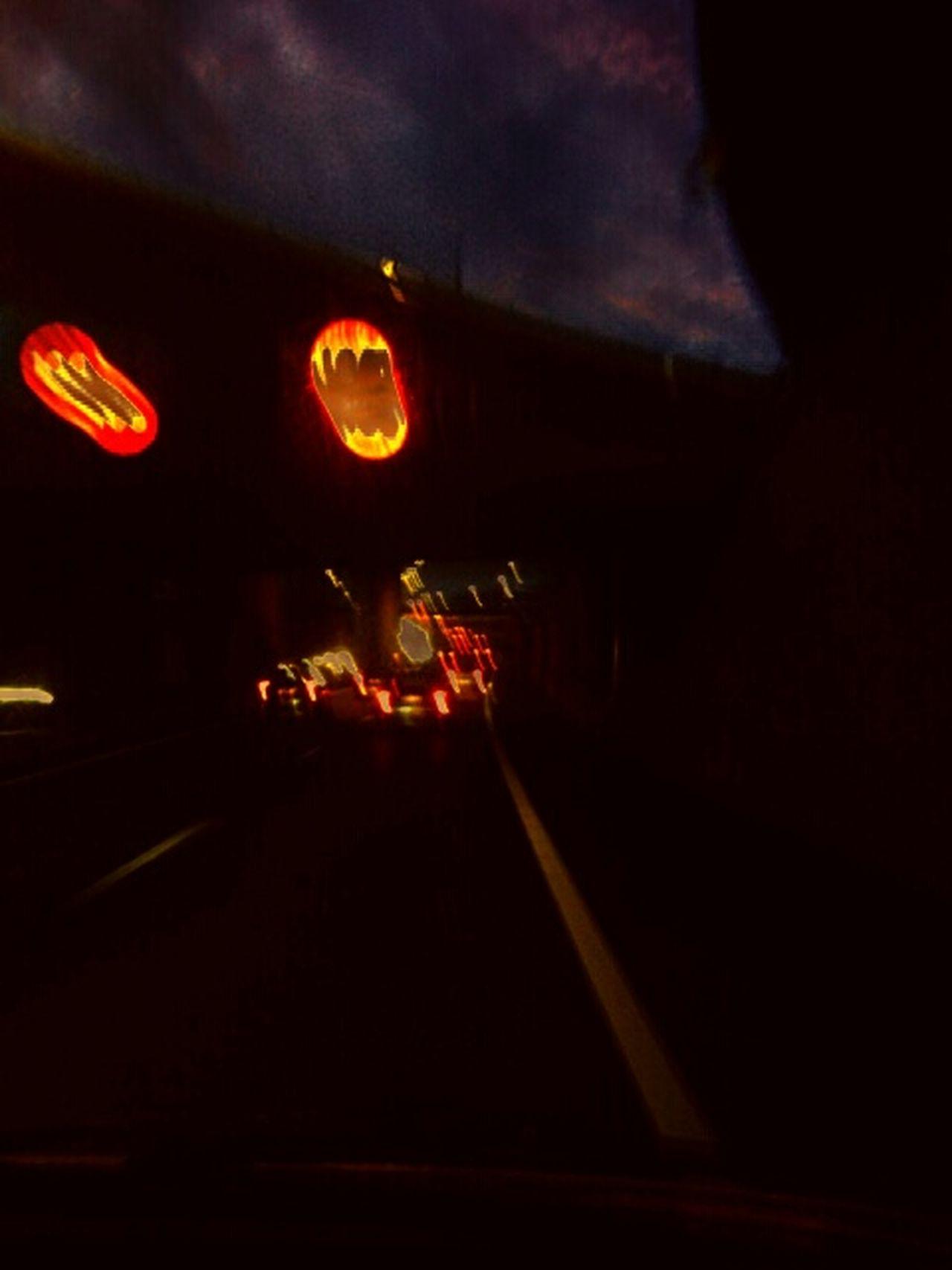 Nightdriving Nightlights Highway