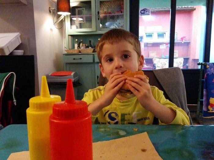 Hamburger+bacon Maionese Ketchup Affamato Gnammmmmm Nexus5 Nexus5photography