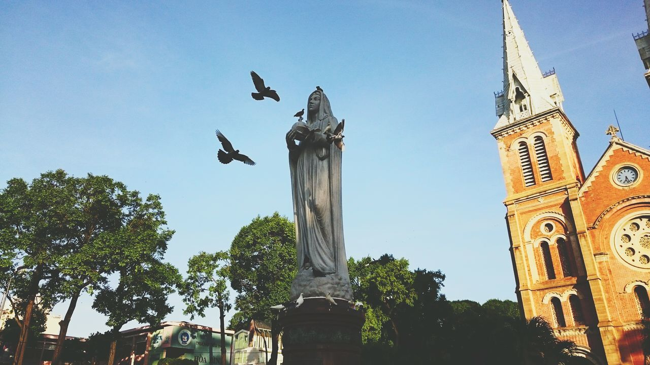I saw peace Notre Dame De Saigon Our Lady Of Peace Statue Peace Doves The City I Live In Saigon Capturing Freedom Cityscapes Sound Of Life Seeing The Sights