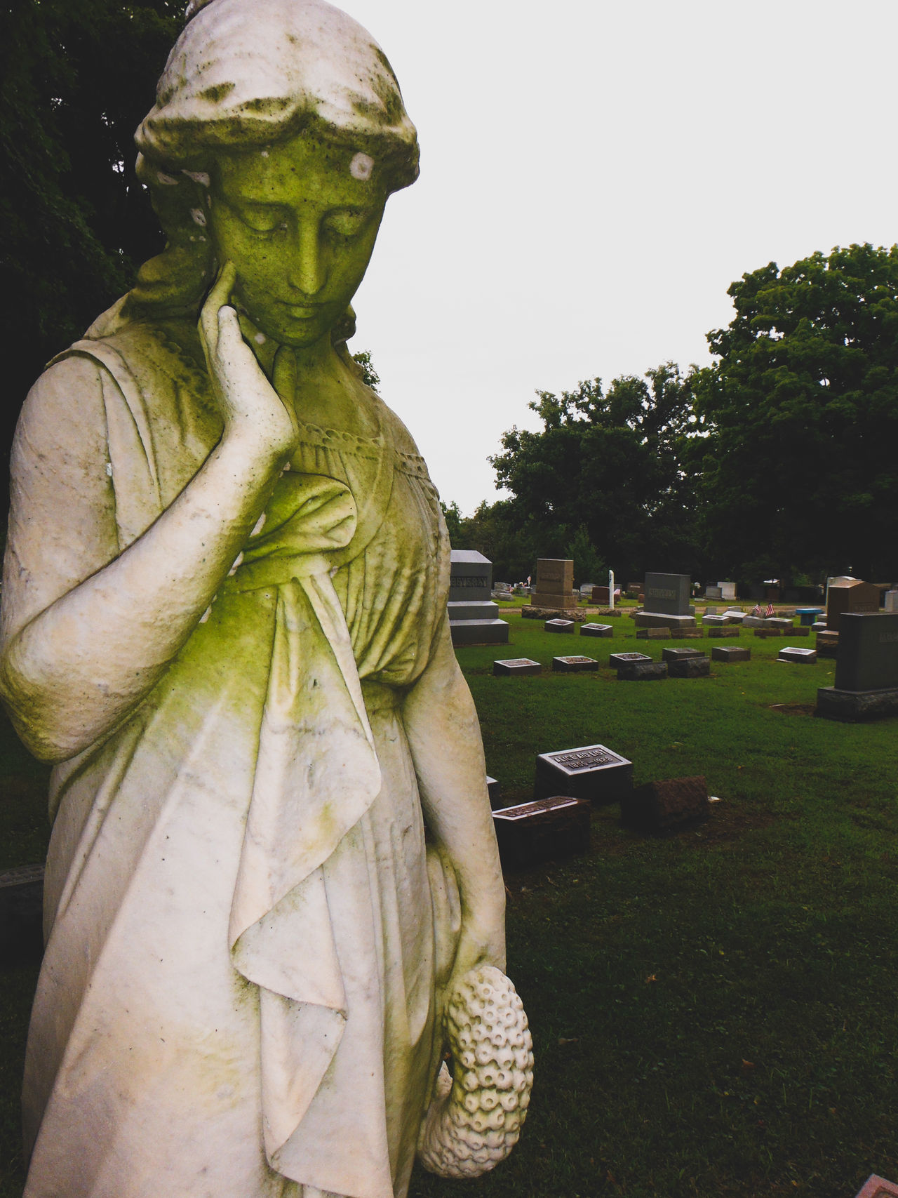 Graveyards Statue Outdoors Day Tree Human Representation Sculpture First Eyeem Photo