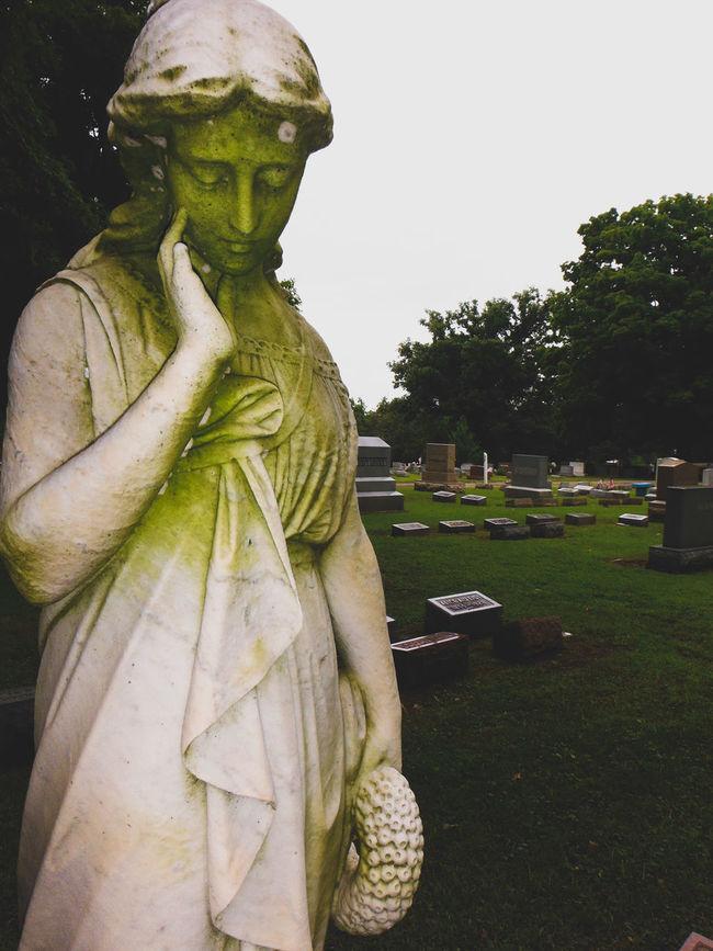 Graveyards Statue Outdoors Day Tree Human Representation Sculpture First Eyeem Photo