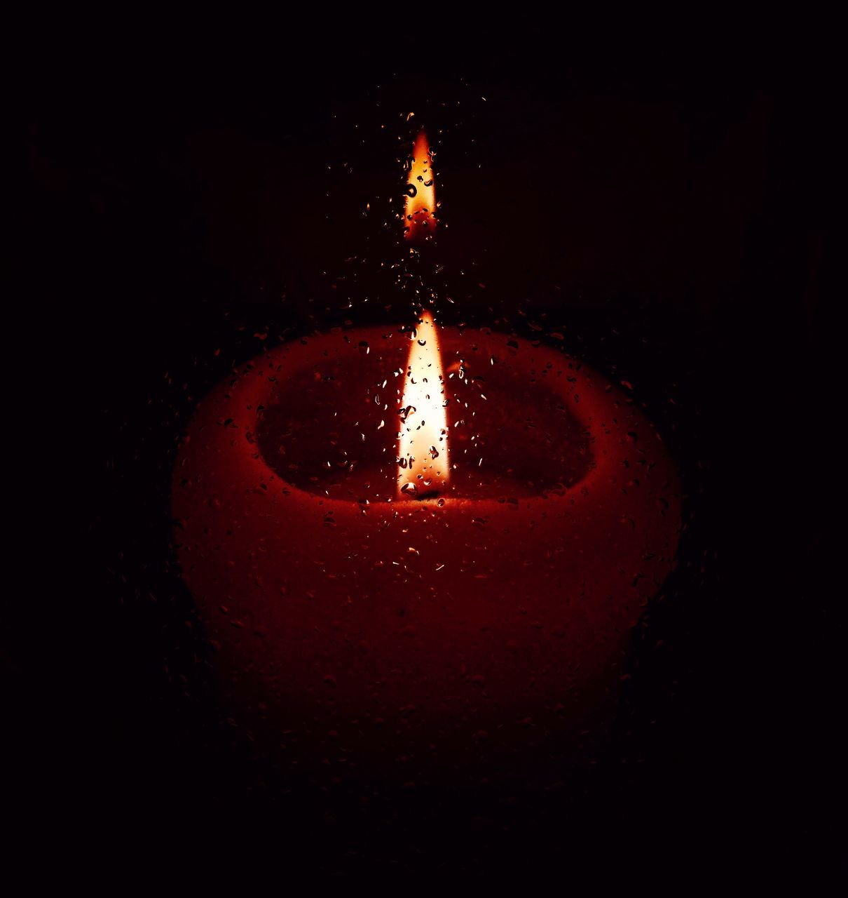 flame, burning, candle, heat - temperature, glowing, celebration, illuminated, no people, diya - oil lamp, close-up, night, darkroom, red, oil lamp, indoors, melting, diwali, black background