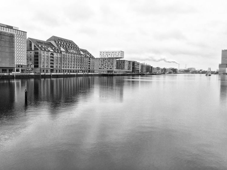 Architecture Boat Building Exterior Calm Connection Development Distant Engineering Horizontal Symmetry Lake Mid Distance Modern Moored Nautical Vessel Outdoors Reflection Rippled River Standing Water Water Waterfront LVC Blackandwhite Black & White Blackandwhite Photography