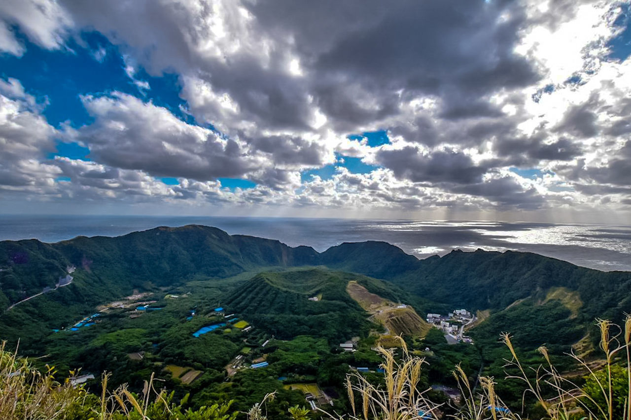 Cloud - Sky Landscape Tourism Travel Travel Destinations Outdoors Forest Mountain Grass Day No People Island Island View  Islandphotography Aogashima Tokyo,Japan Japan Photography Nature_collection