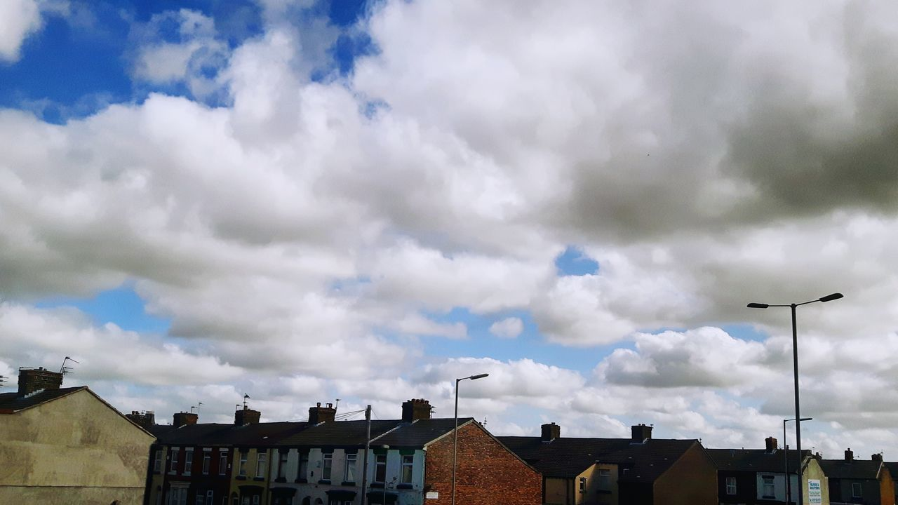 Cloudybluesky Cloudscape Houses Urbansky Summer Views ...
