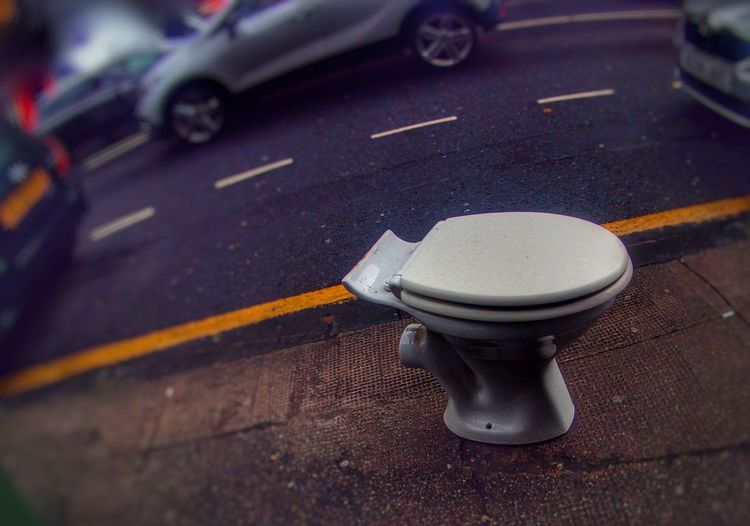No People Day Very Public Toilet Strange Thing...
