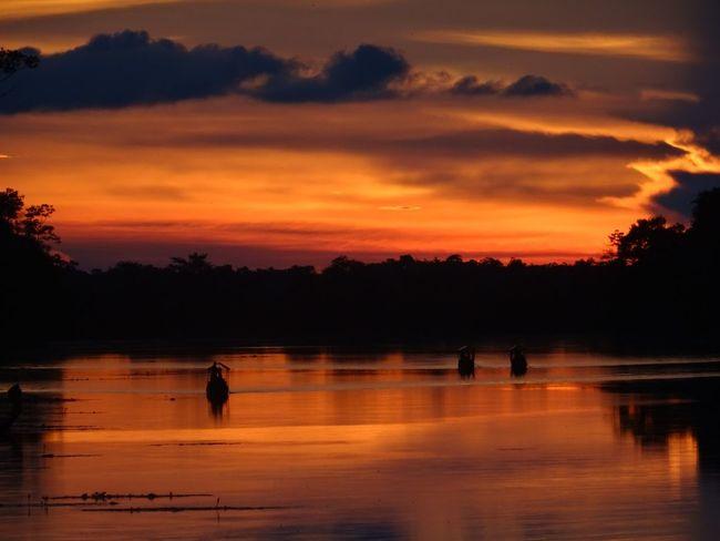 Angkor Thom Sunset Cambodia Scenics