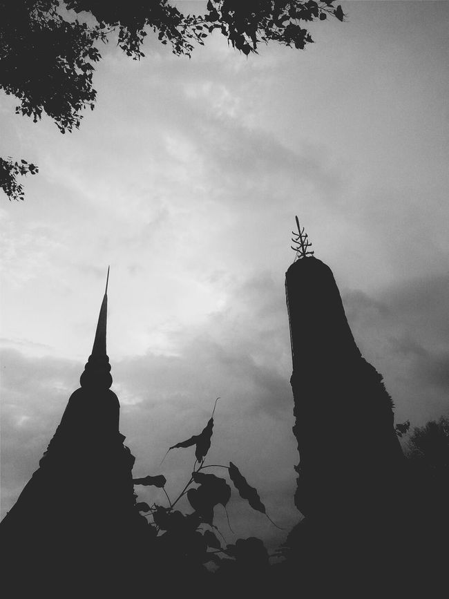 sky of Temple ★ Streetphoto_bw Black & White Temple Thailand