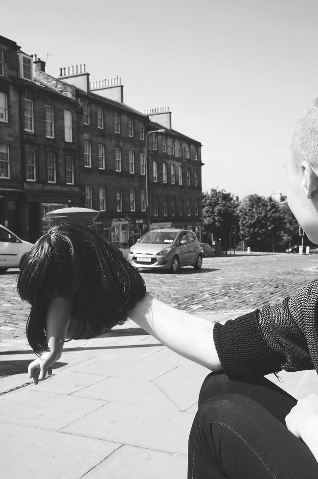 the streets. Thesekids Monochrome Thesuburbs Edinburgh Blackandwhite Photography Blackandwhitephotography Wigplay People And Places