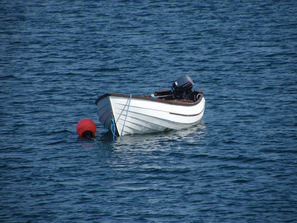All At Sea Day Fishing Boat Isle Of Skye Mooring Nature Nautical Vessel No People Outdoors Scotland Sea Water White Boat