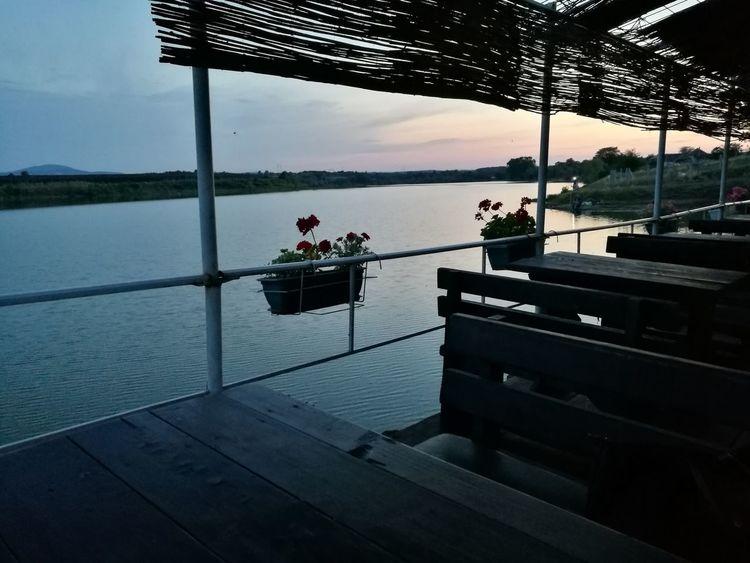 Lake Sunset Dead Nature Peaceful Evening