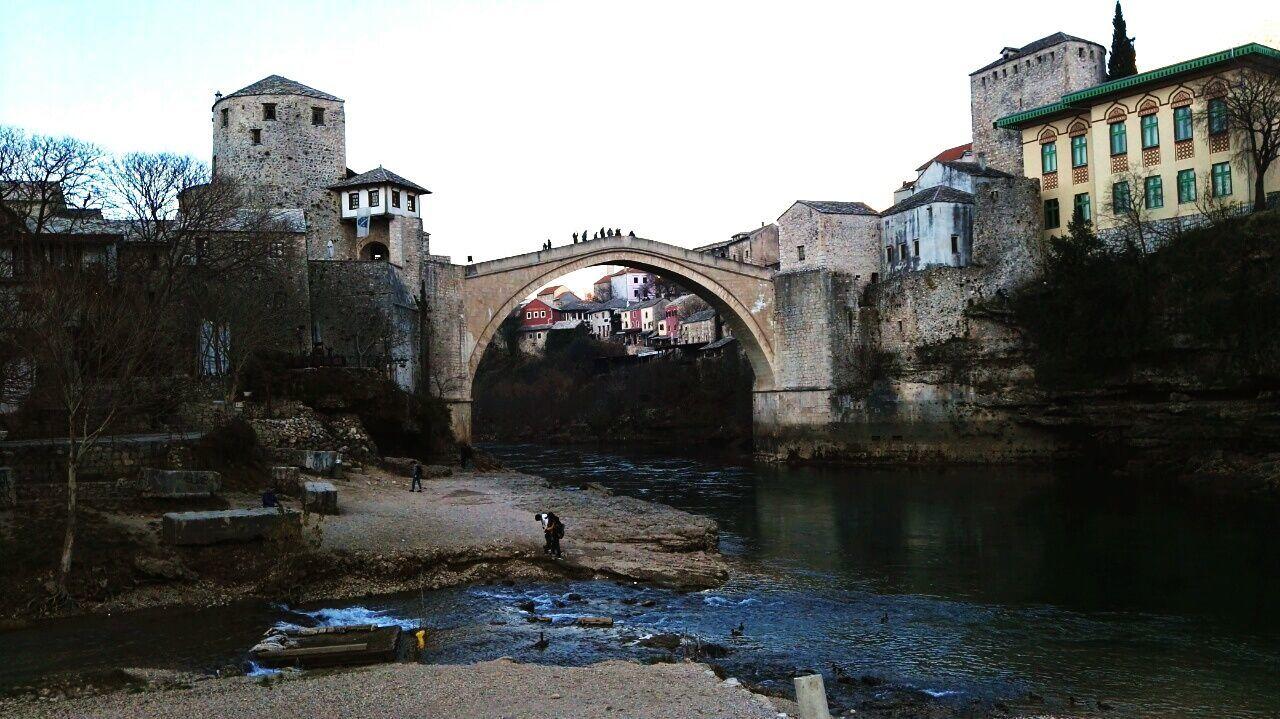 Old Town Old Buildings Bridge Mostar Mostar Bridge Mostar Bosnia Bosnia And Herzegovina Bosnia Travel Destinations Nature Sky Day River Neretva