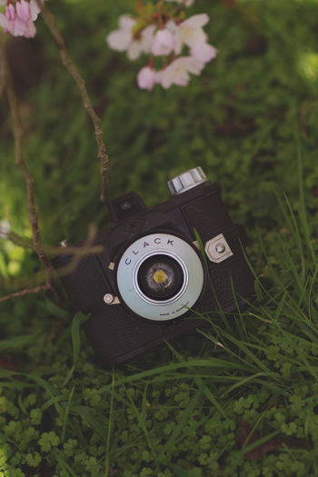 Camera Camera - Photographic Equipment Colors Fun Agfa Close-up Day Depth Of Field Digital Single-lens Reflex Camera Grass Growth No People Old-fashioned Outdoors Photography Photography Themes Retro Styled Technology Vintage