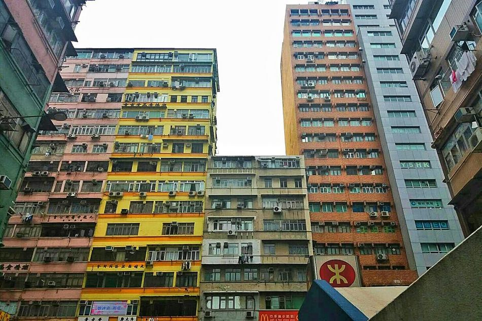 Hong Kong Skyscraper City Architecture Apartment City Life Hong Kong Outdoors Day Living Travel House Asian Culture China Colourful Architecturephotography Pattern Street Streetphotography Cityscape Love Shanty Inspirations Building Tsim Sha Tsui Skyline