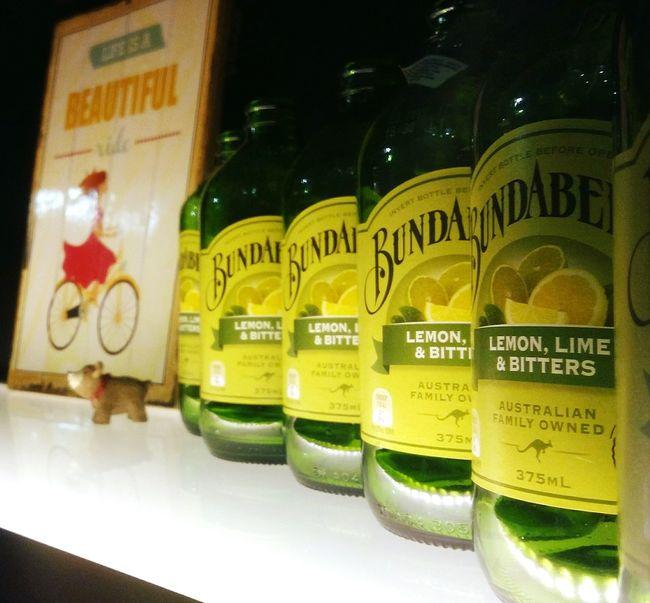 Lemon Lime Bitters Bunderberg Glass