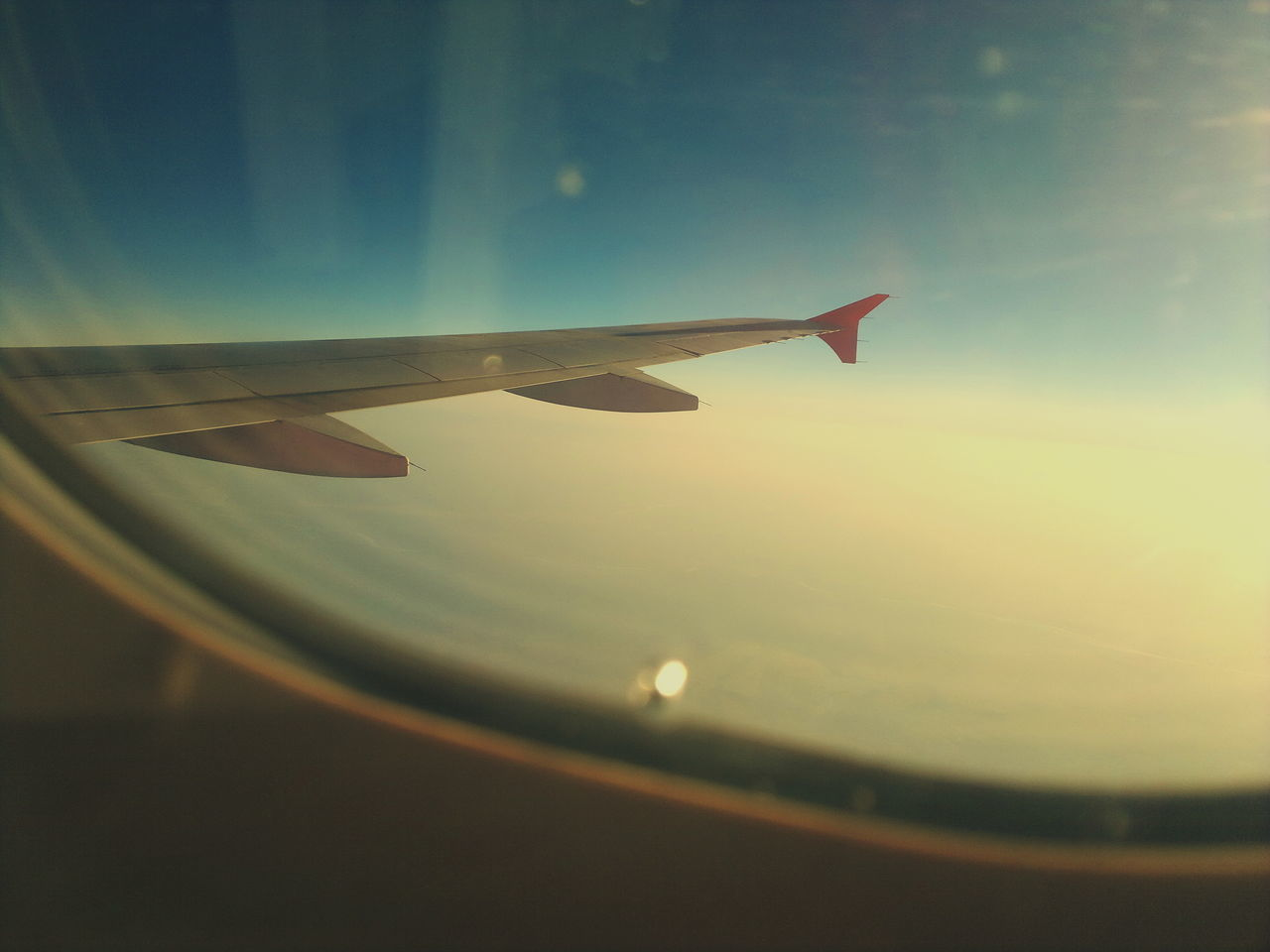 Airplane Airplane Wing Nature No People Nokia  Outdoors Scenics Sky Sun Sunlight Sunrise