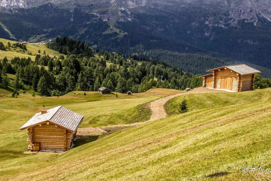 Building Exterior Capanna Field Fienile Grass Grassy Landscape Mountain No People Rural Scene Scenics Tranquility