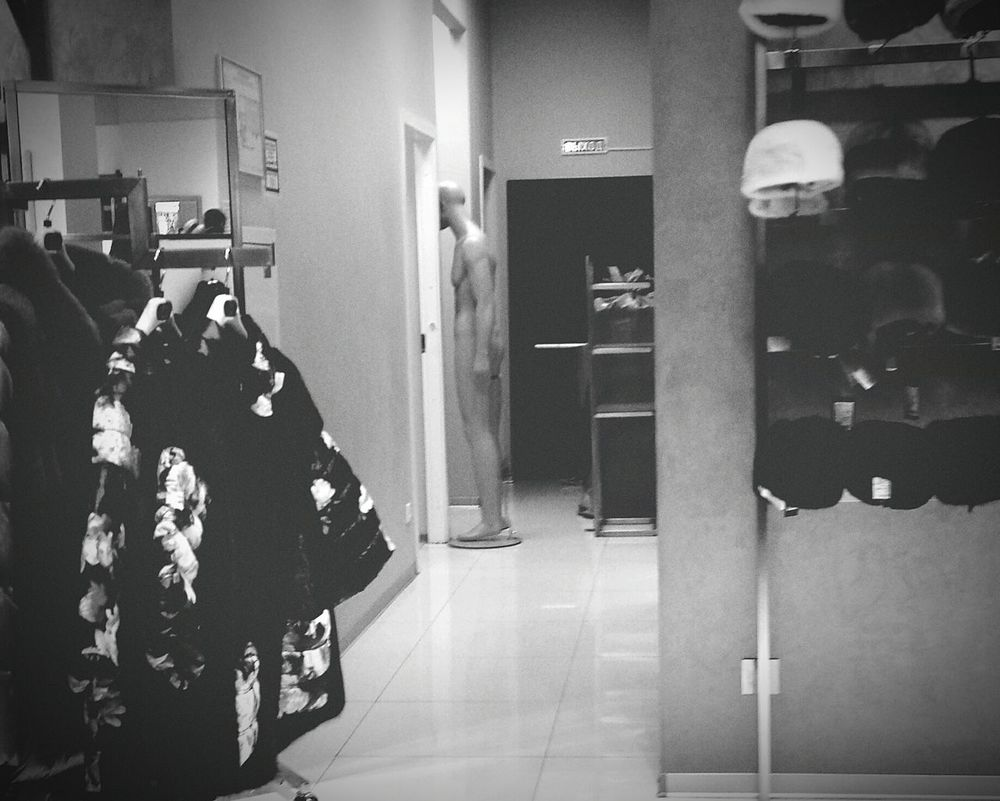 Blackandwhite Black & White B&w Manequin Stare At Door Clothing Shop Clothes Clothing Indoors  Shop First Eyeem Photo