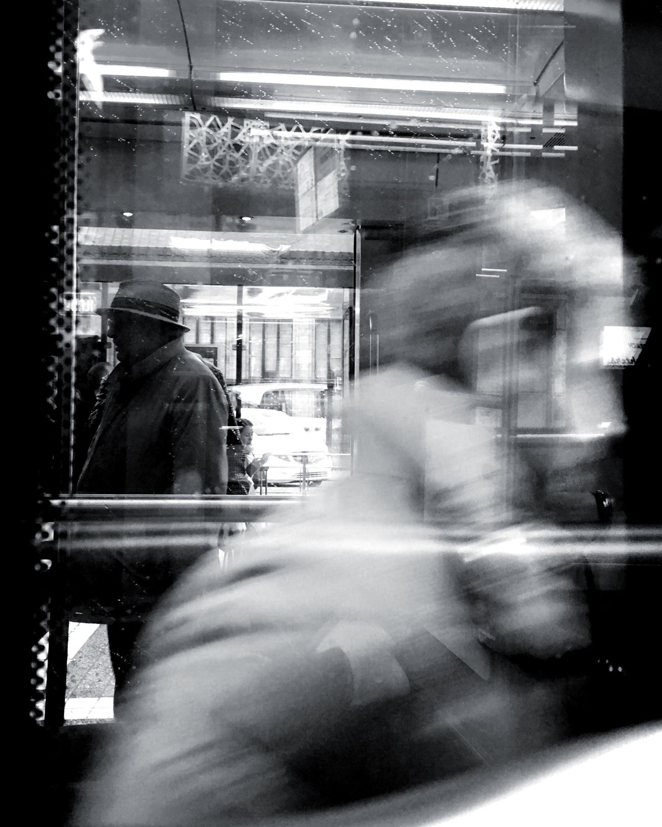 Our life with the ghosts from the past and the future The Street Photographer - 2017 EyeEm Awards Streetphotography Reflection Blurred Motion Looking Through Window Mobilephotography
