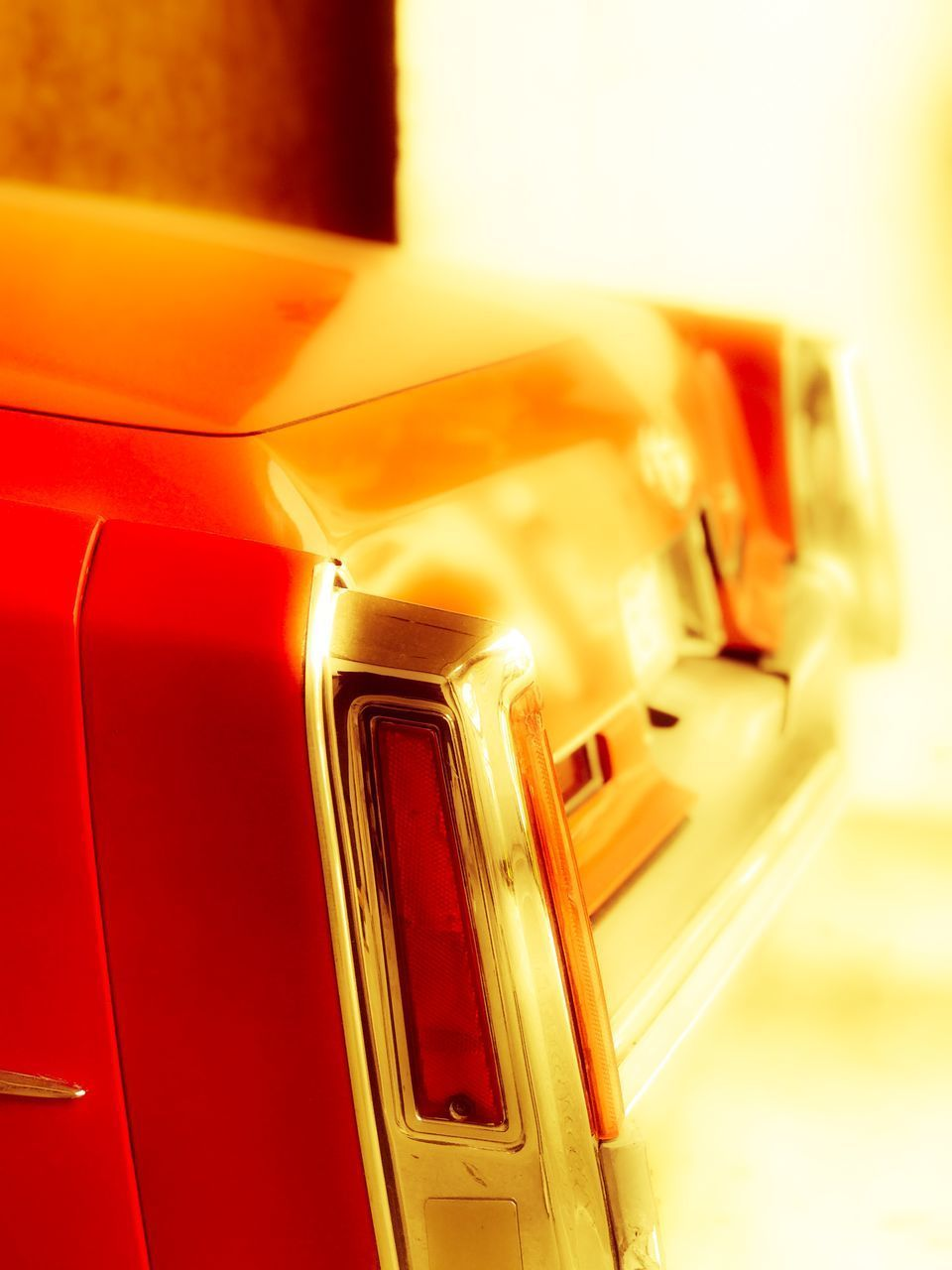 car, transportation, mode of transport, red, close-up, land vehicle, no people, yellow, indoors, day