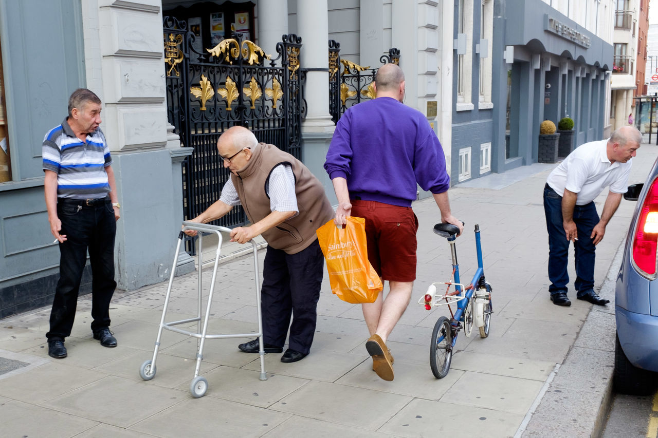Casual Clothing Outdoors Day Streetphotography Street Photography London Disabled Bike TakeoverContrast