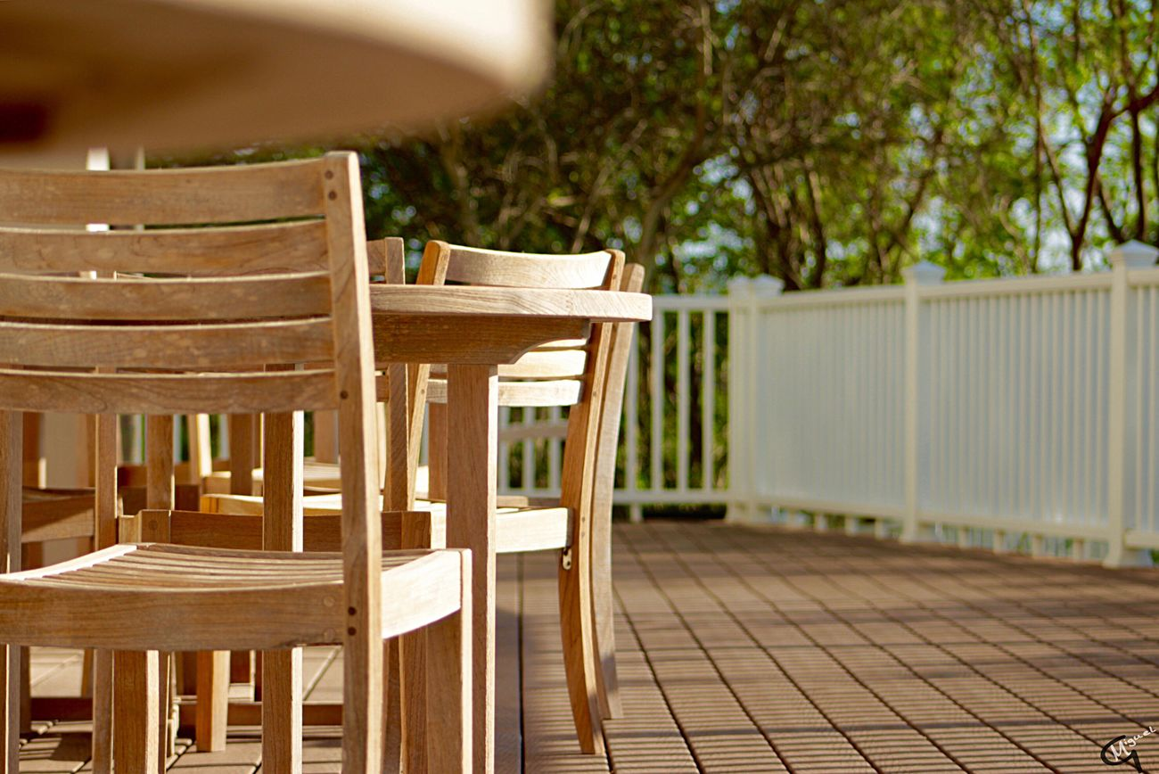 Chair Table Wood - Material No People Empty Dining Table Porch Outdoors Day Inthemoment Enjoying The Sights Canonrebelt5 Photographylovers Photojournalism Enjoying Life Beautiful Enjoying The Moment Photographyislifee Relaxing The City Light EyeEmNewHere