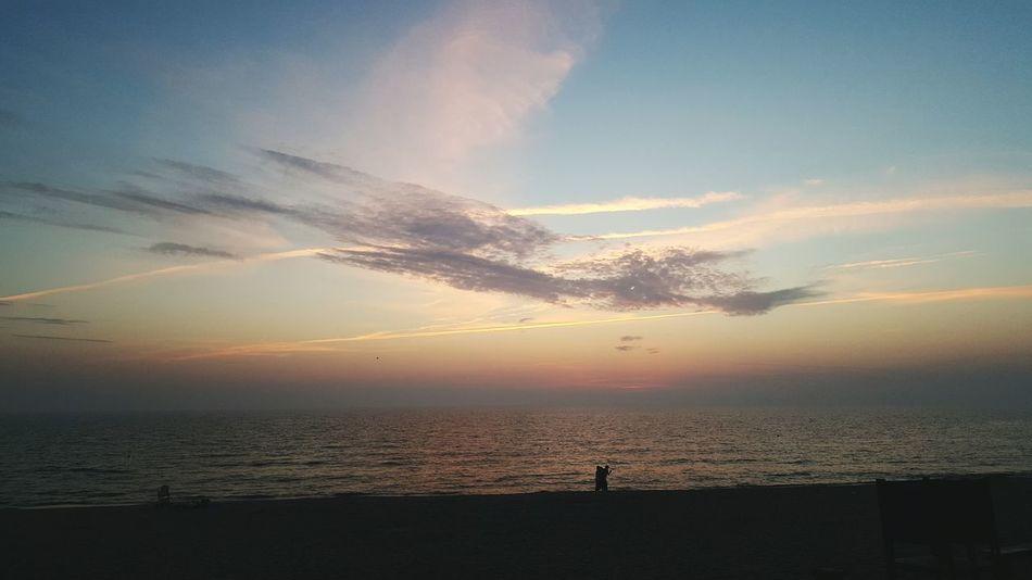 Sea Beach Autumn Fall Summer Sky And Clouds Sunset Nature Landscape Sun