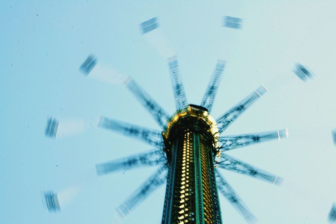 Sky Low Angle View No People Nature Technology Horizontal Outdoors Day Amusementpark Long Exposure