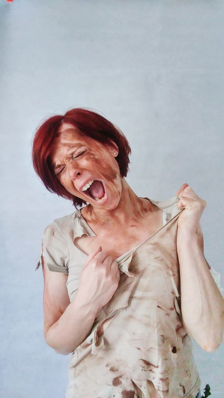 Portrait Of Screaming Woman