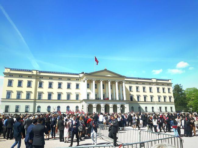 Norway National Day Constitution Day Constitution Day Of Norway Norway Norway 2016 King Queen Oslo Oslolife Palace Royalfamily Royalpalaceoslo Royalpalace