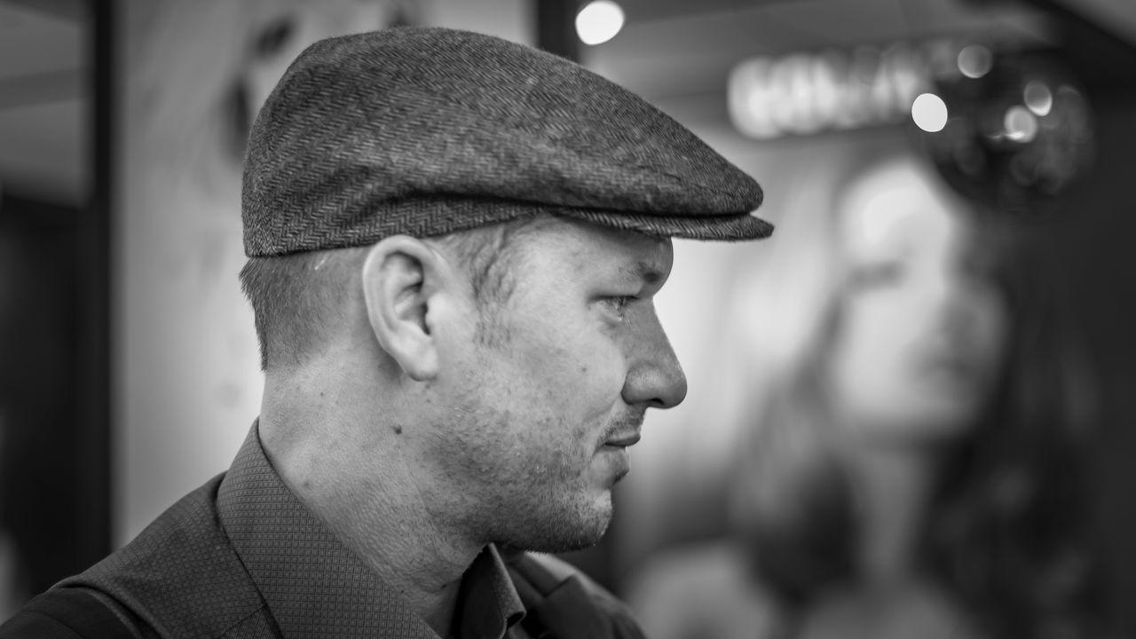 Dirk | #FBM16 #FBM16 500px Beard Black & White Black And White Blackandwhite Blackandwhite Photography Buchmesse2016 EyeEm Best Edits EyeEm Best Shots EyeEm Best Shots - Black + White Fbm16 Focus On Foreground Frankfurt Headshot Street Photography Streetphoto_bw Streetphotography Stubble Thisiswhatweshare