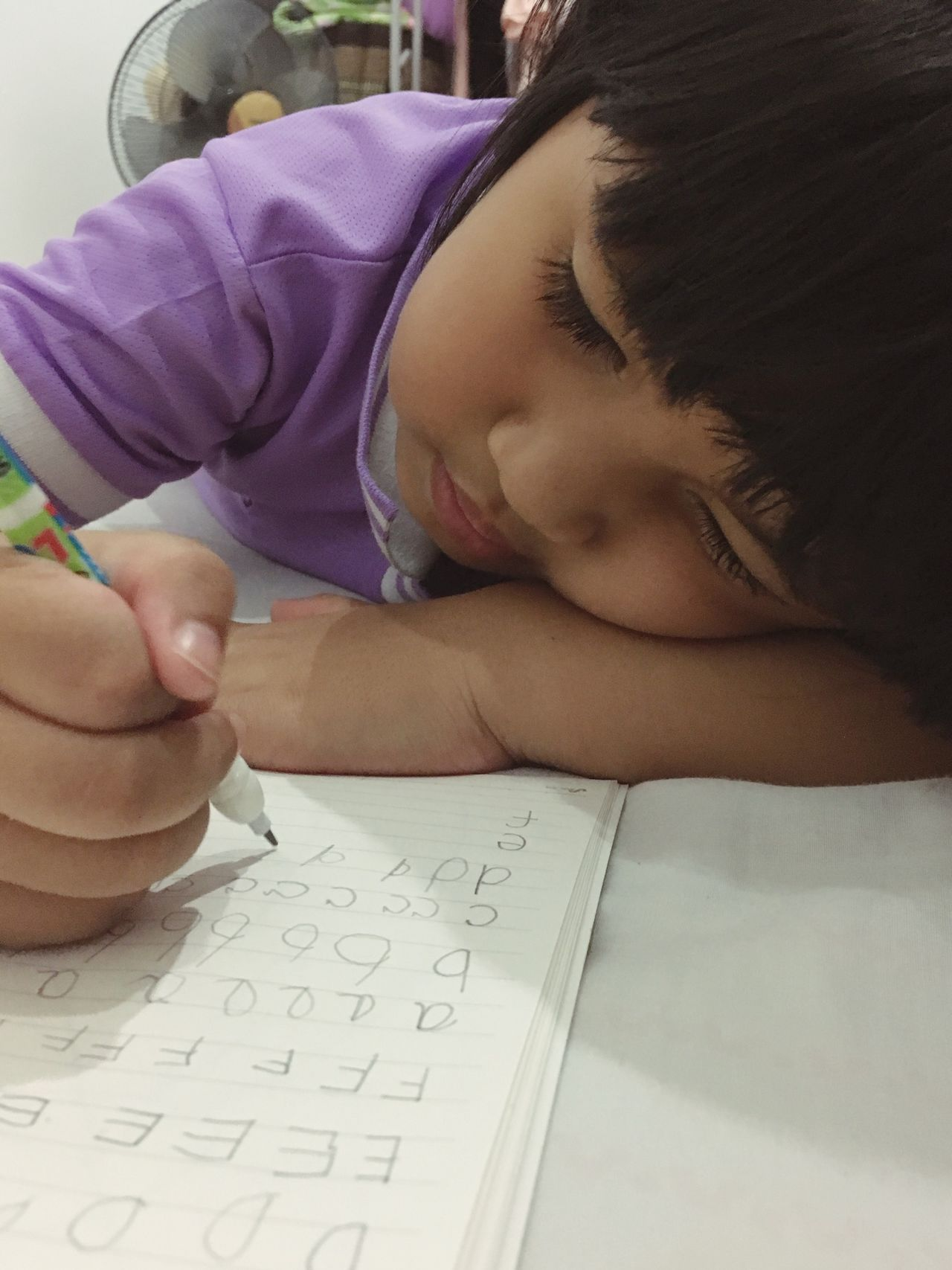 A girl writing character Close-up English Learn Learning Human Hand Education Hand Drawing