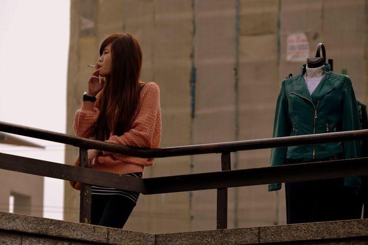 Japanese  Smoking Street Photography