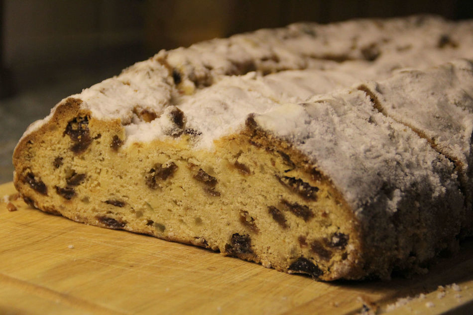 Christmas Stollen Bake Cake Cake Time Cakes Cake♥ Christmas Christmas Stollen Christmas Time Christmastime Close-up Coffee Time Day Food Food And Drink Fruit Cake  Fruit Loaf Indoors  No People Raisins Stollen Tea Time